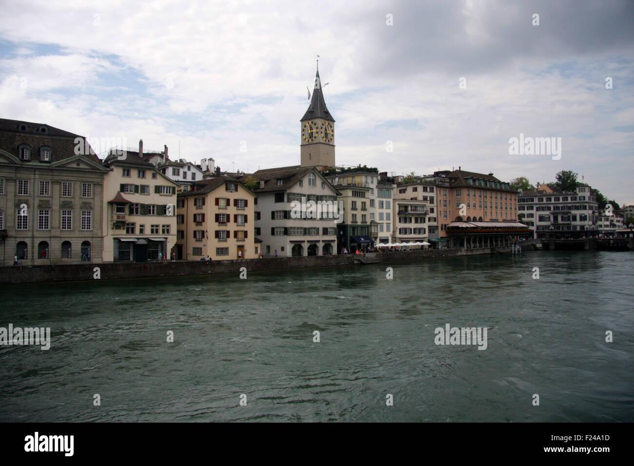 Limmat - Zuerich, Schweiz. - Stock Image