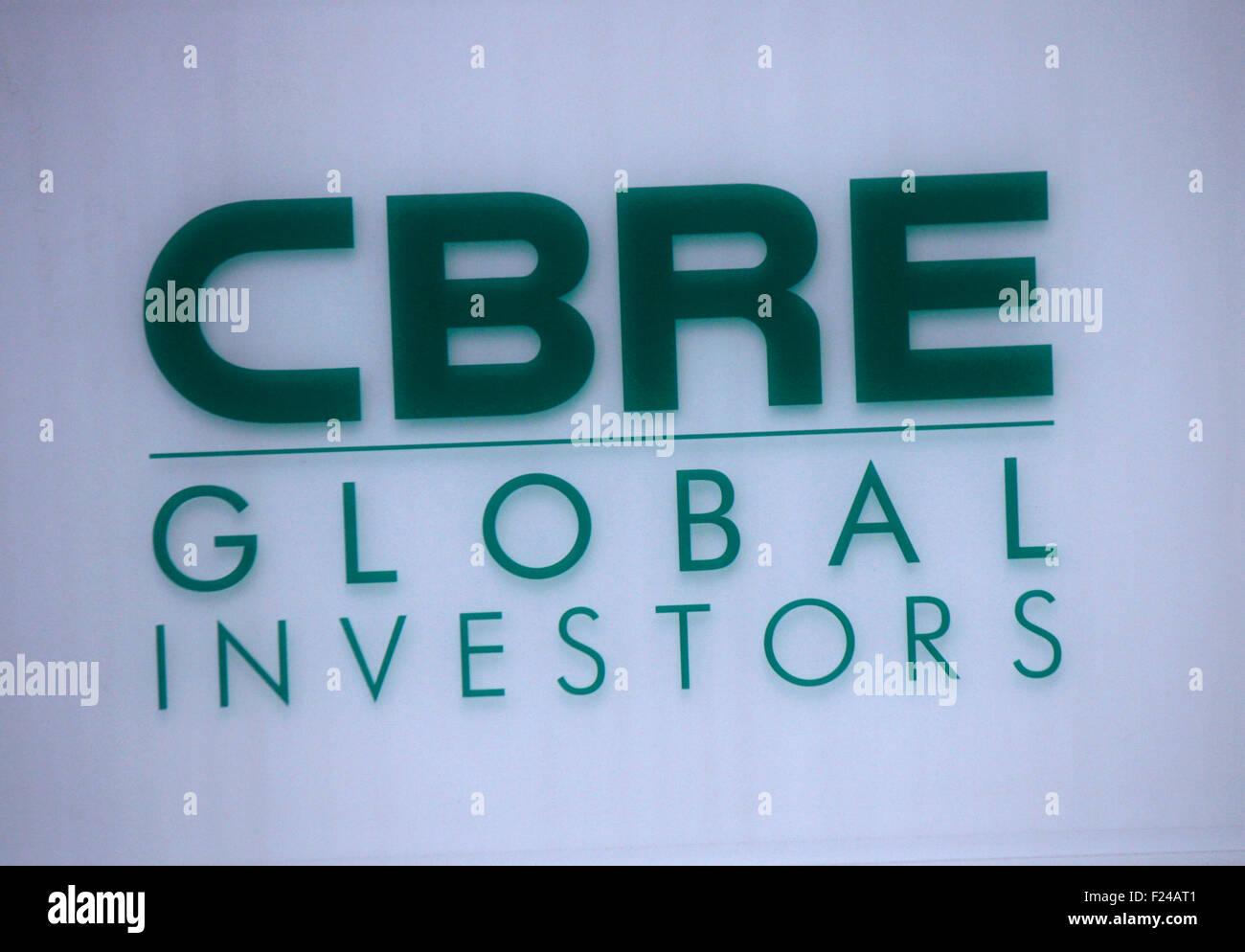 Markenname: 'CBRE Global Investors', Frankfurt am Main. - Stock Image