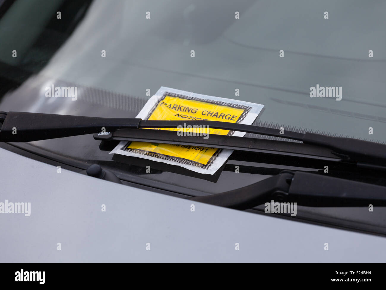 Penalty charge ticket for illegal car parking in the UK. - Stock Image
