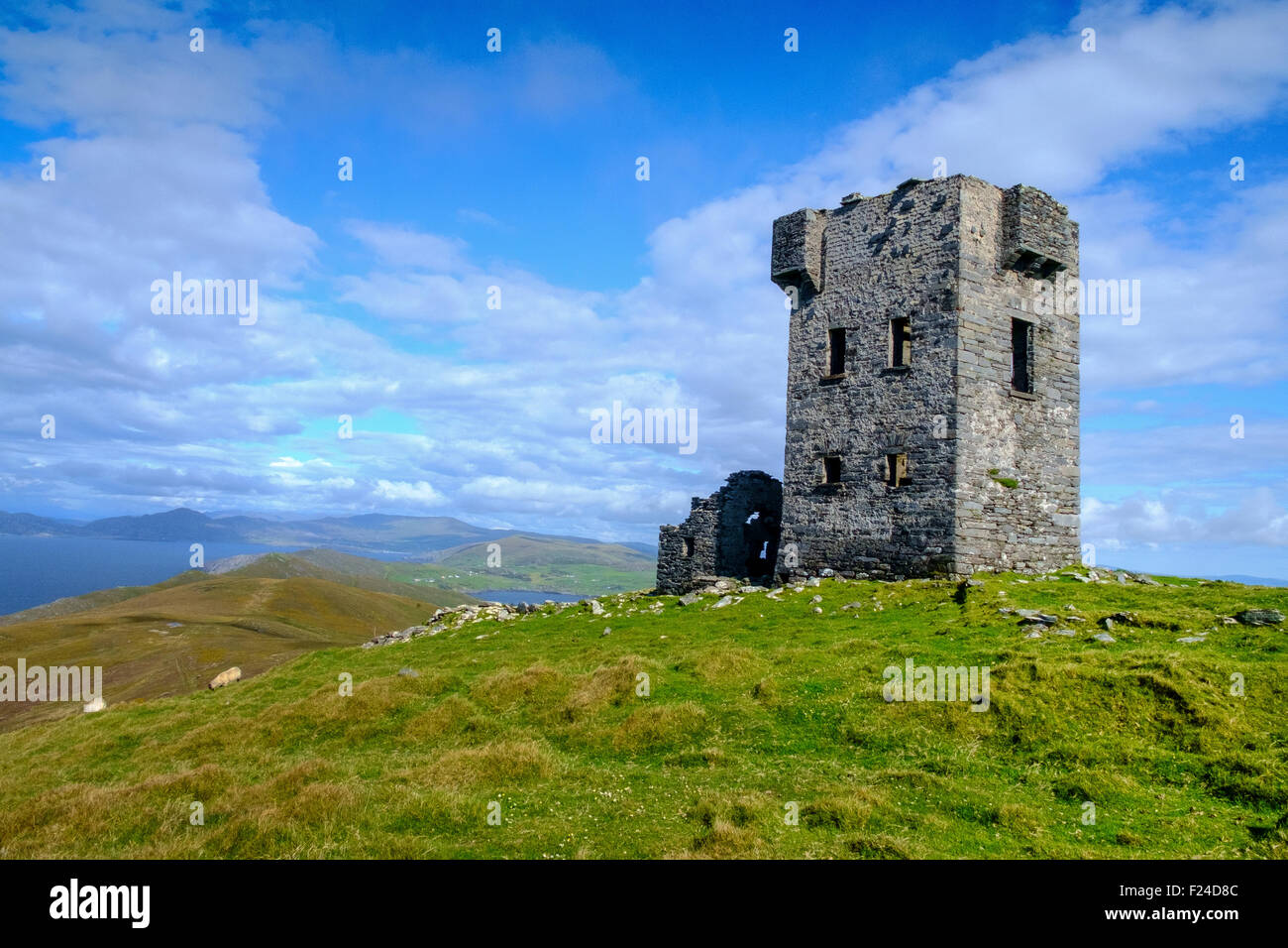 tower house signal point sheeps head county cork - Stock Image