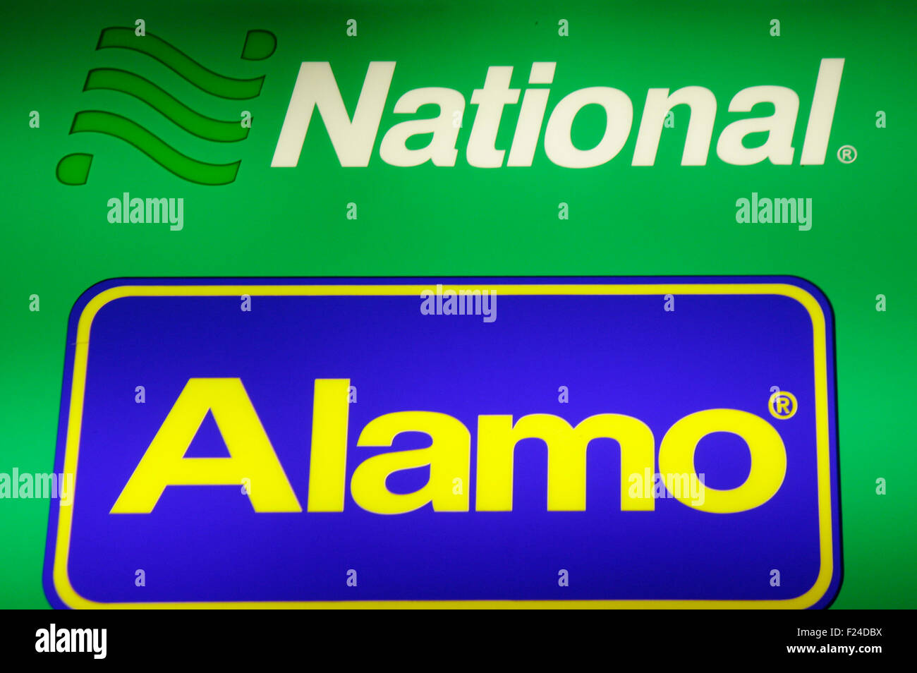Markenname: 'National' / 'Alamo', Dezember 2013, Berlin. - Stock Image