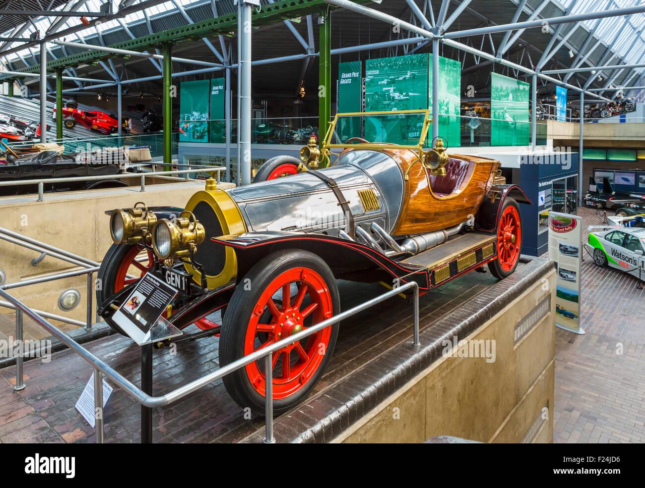 Chitty Chitty Bang Bang car on display at the National Motor Museum, Beaulieu, Hampshire, England UK - Stock Image