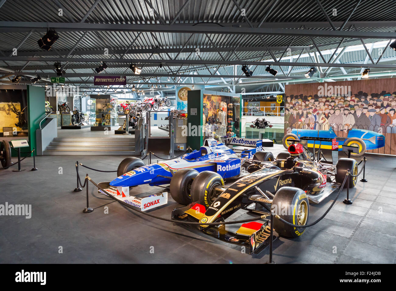 Formula 1 racing cars on display at the National Motor Museum, Beaulieu, Hampshire, England UK - Stock Image