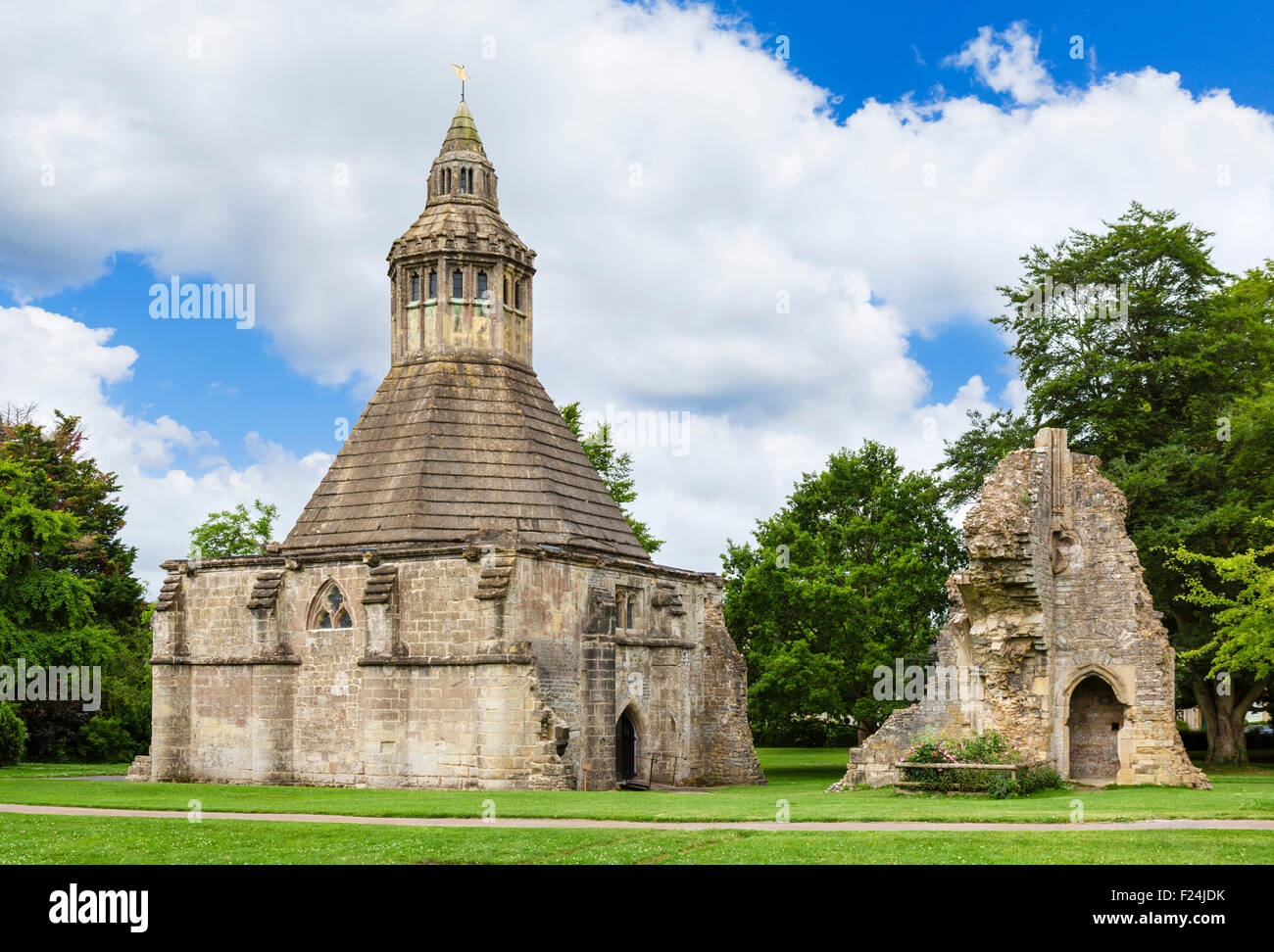 The Abbot's Kitchen at Glastonbury Abbey, associated with the legend of King Arthur, Glastonbury, Somerset, - Stock Image