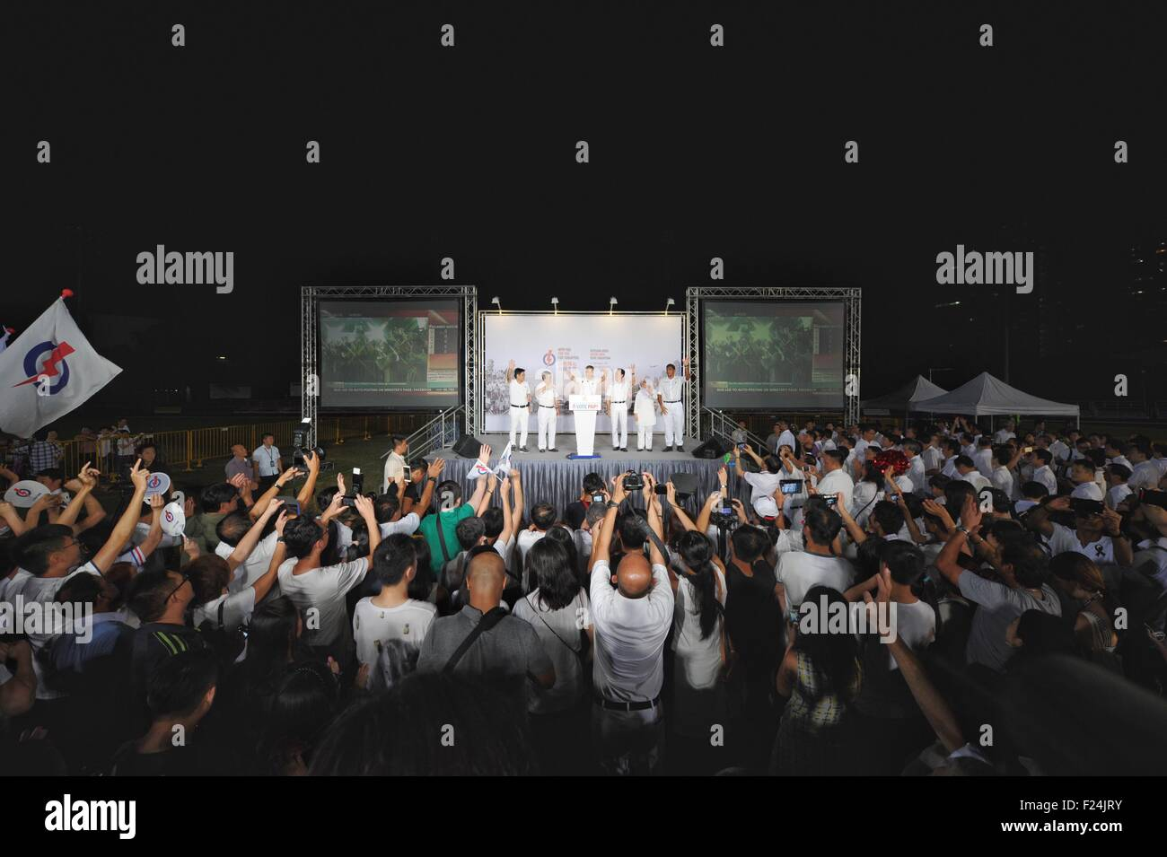 Singapore. 12th Sep, 2015. Singapore's Prime Minister and People's Action Party (PAP) Secretary-General - Stock Image