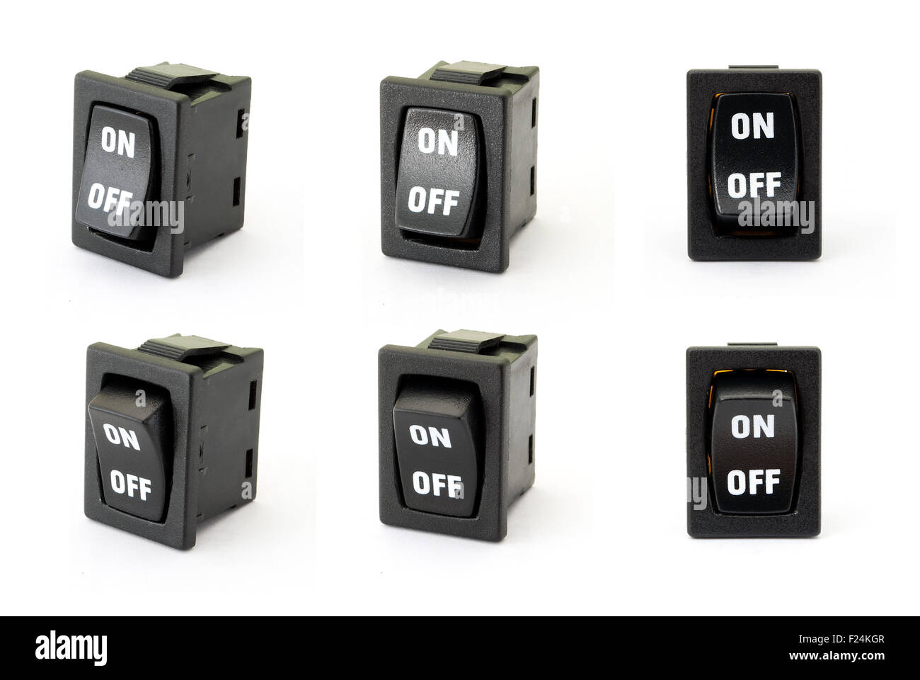 Toggle switch on the white background - Stock Image