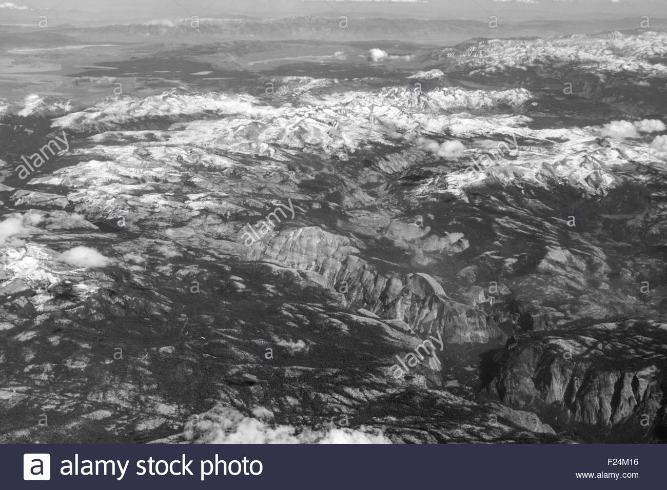 Aerial view of Yosemite Valley and Yosemite National Park in California Stock Photo