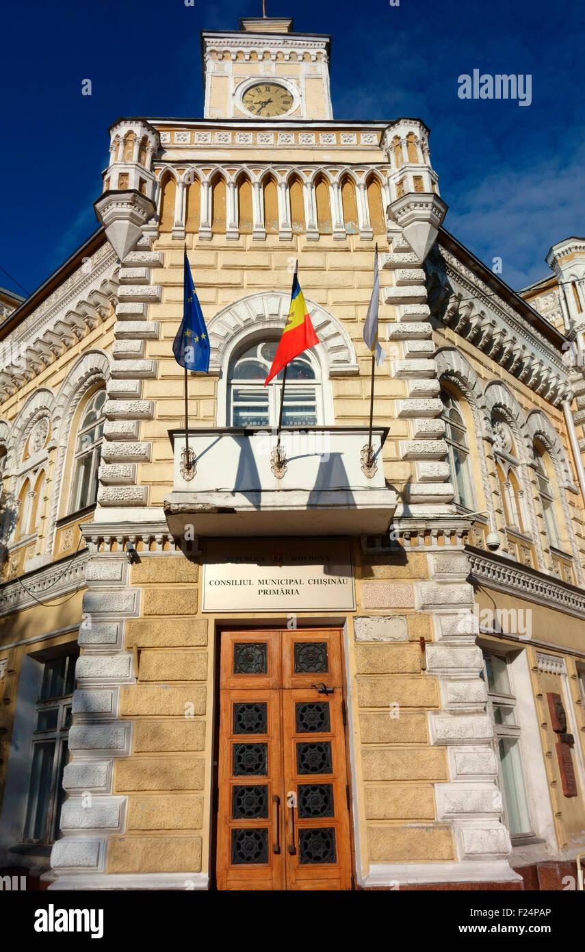 Town Hall, Chisinau, Moldova - Stock Image