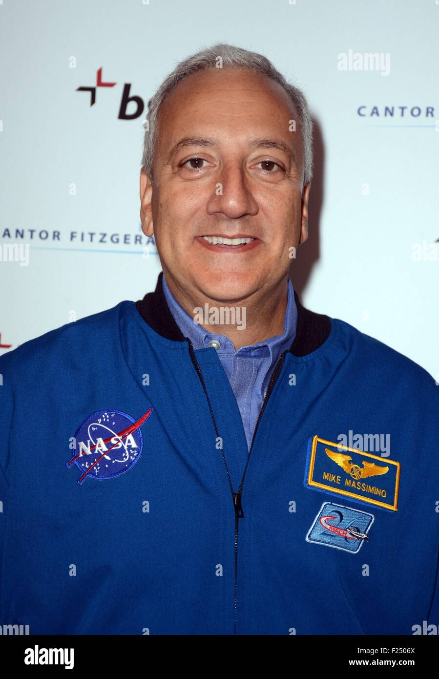 New York, NY, USA. 11th Sep, 2015. Michael Massimino, NASA Astronaut in attendance for BGC Partners Annual Charity - Stock Image