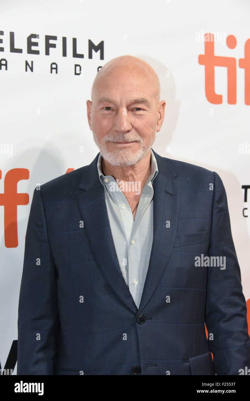 Toronto, Ontario, Canada. 11th Sep, 2015. Actor PARTICK STEWART attends 'The Martian' premiere during the - Stock Image