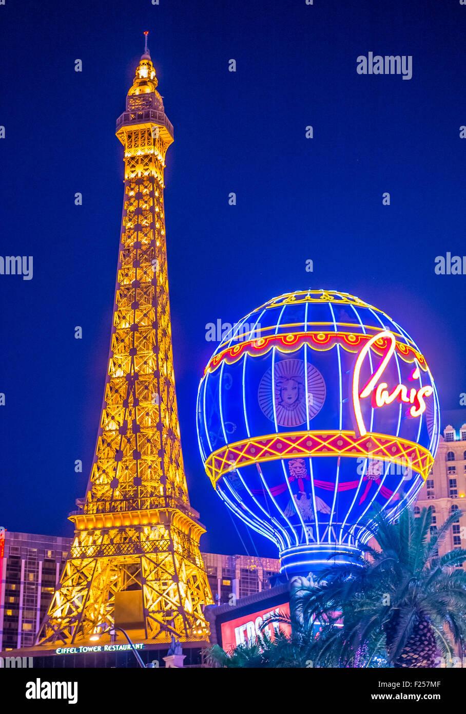 The Paris Las Vegas hotel and casino in Las Vegas - Stock Image