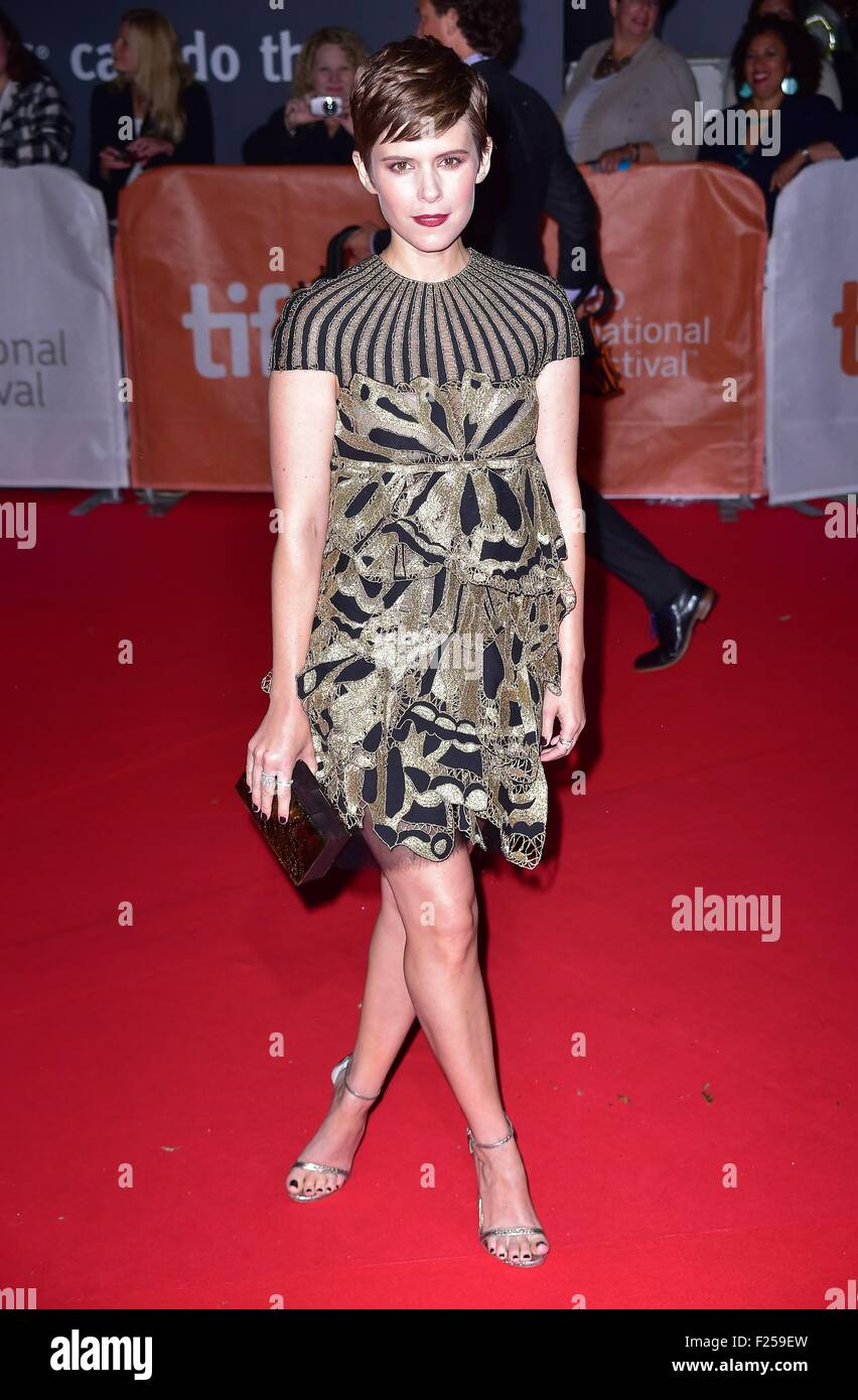Toronto, ON. 11th Sep, 2015. Kate Mara at arrivals for THE MARTIAN Premiere at Toronto International Film Festival - Stock Image