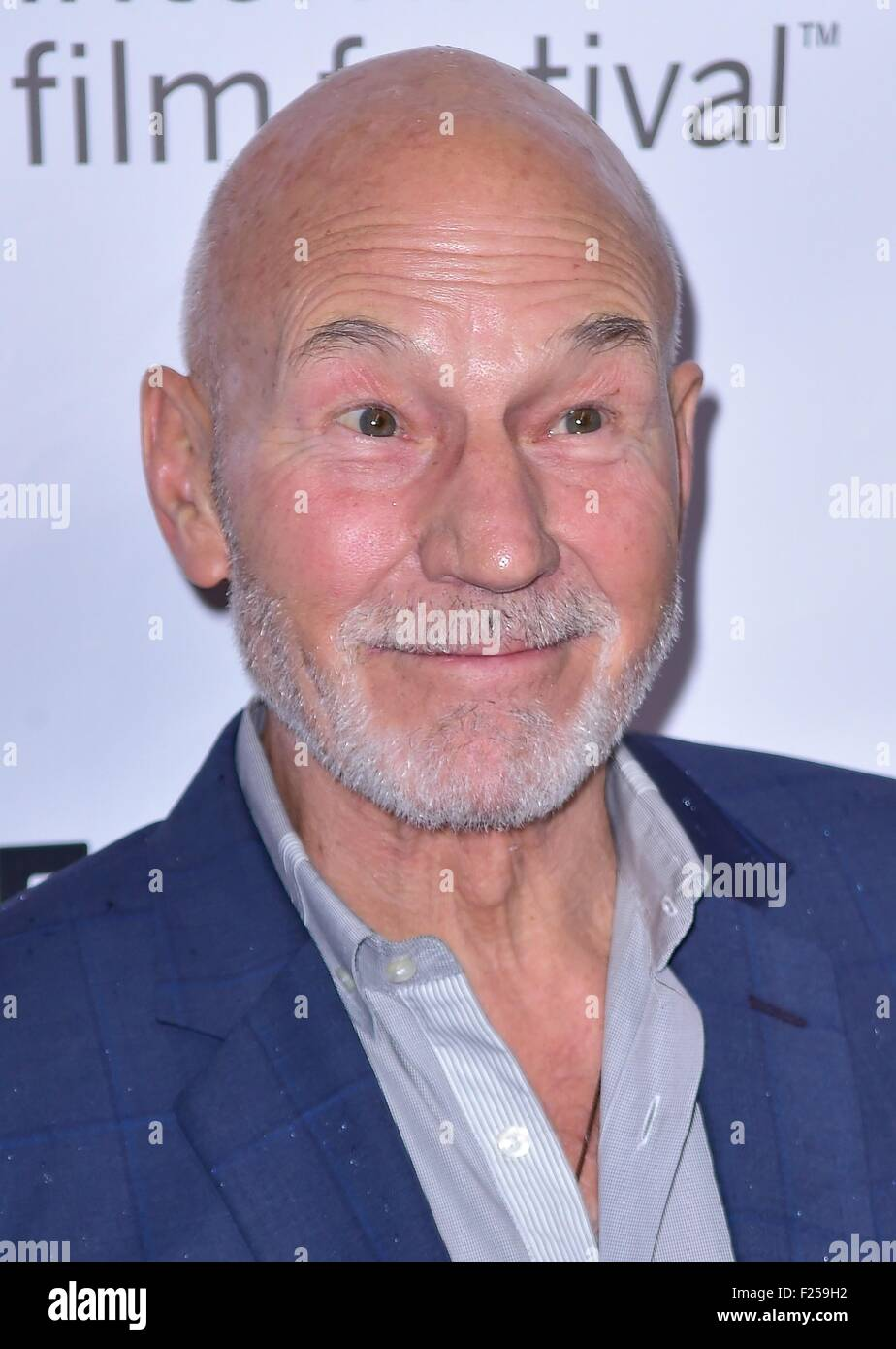 Toronto, ON. 11th Sep, 2015. Patrick Stewart at arrivals for THE MARTIAN Premiere at Toronto International Film - Stock Image