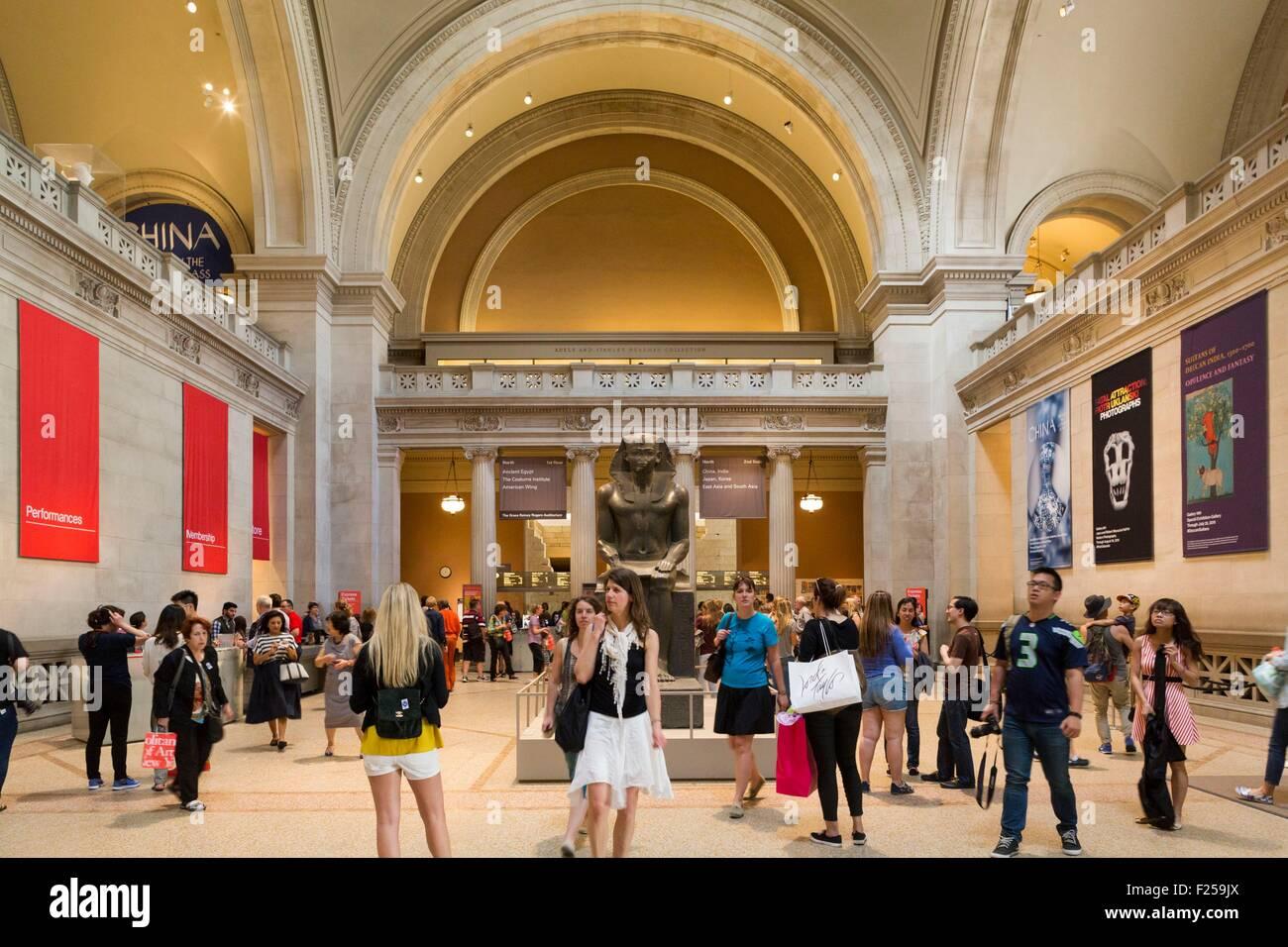 United States, New York, Manhattan, MET, the lobby - Stock Image