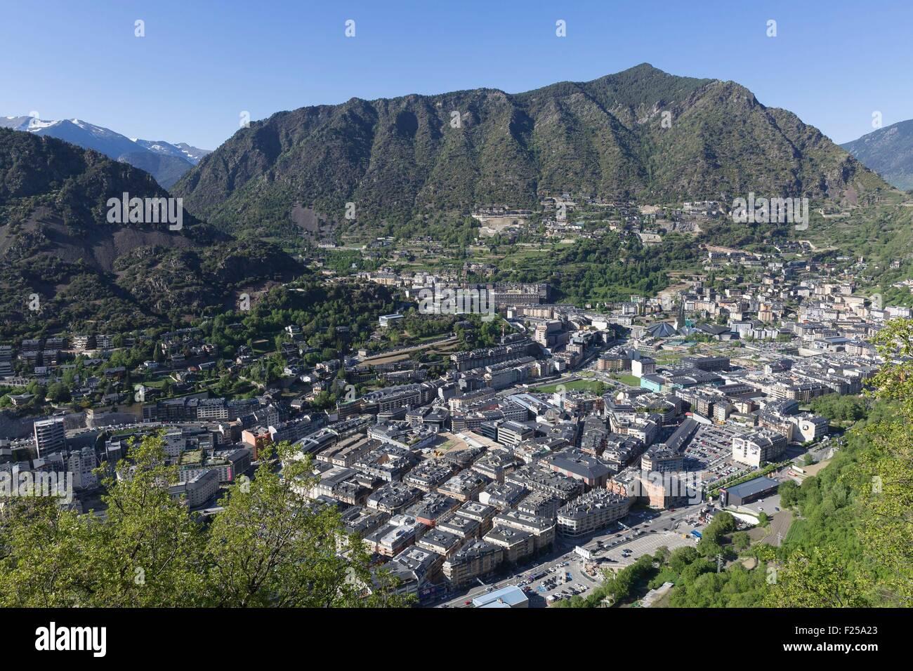Andorra, Andorra La Vella, capital city of Andorra state, Escaldes-Engordany - Stock Image