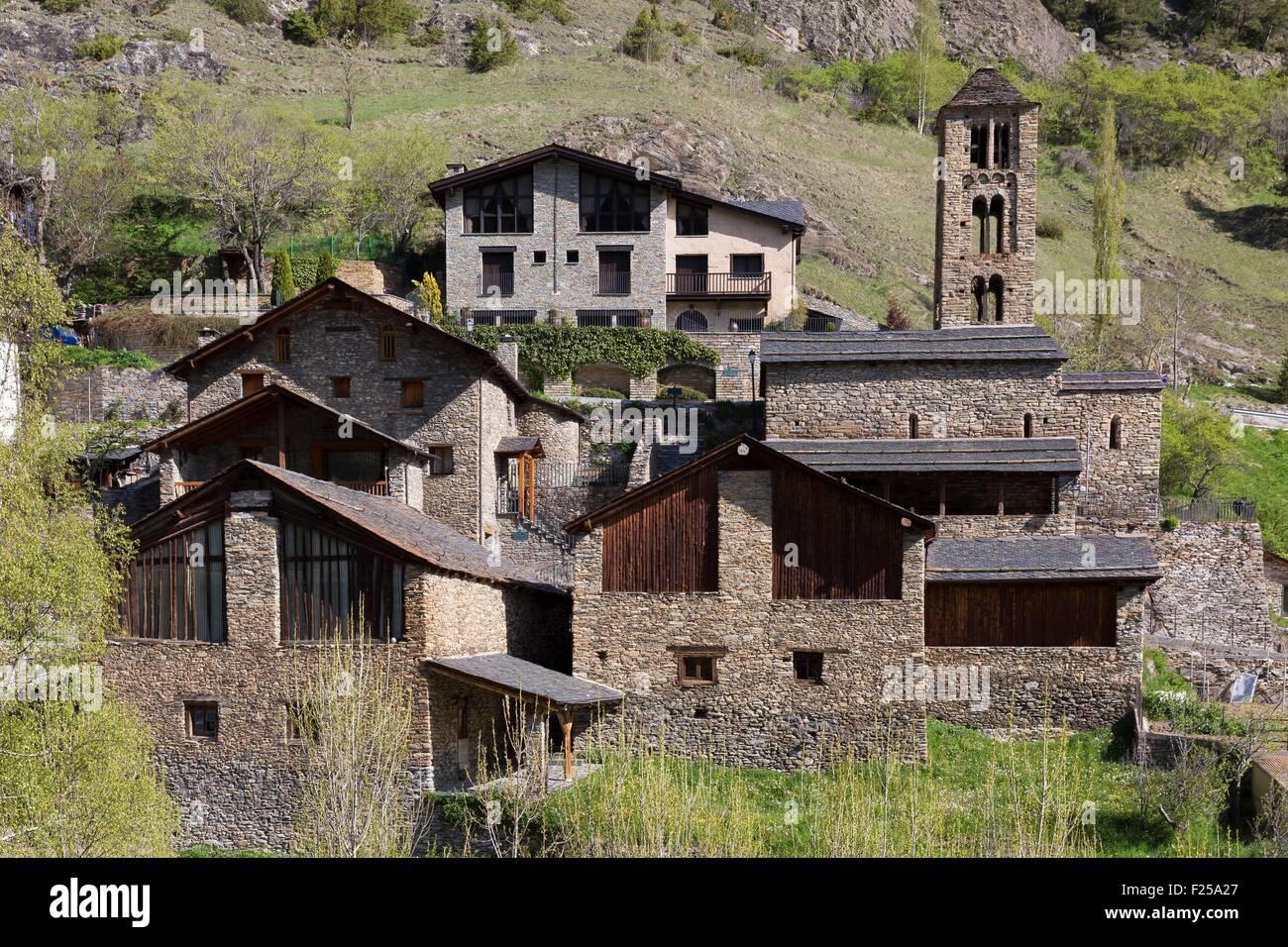 Andorra, Pal village, Sant Climent church - Stock Image