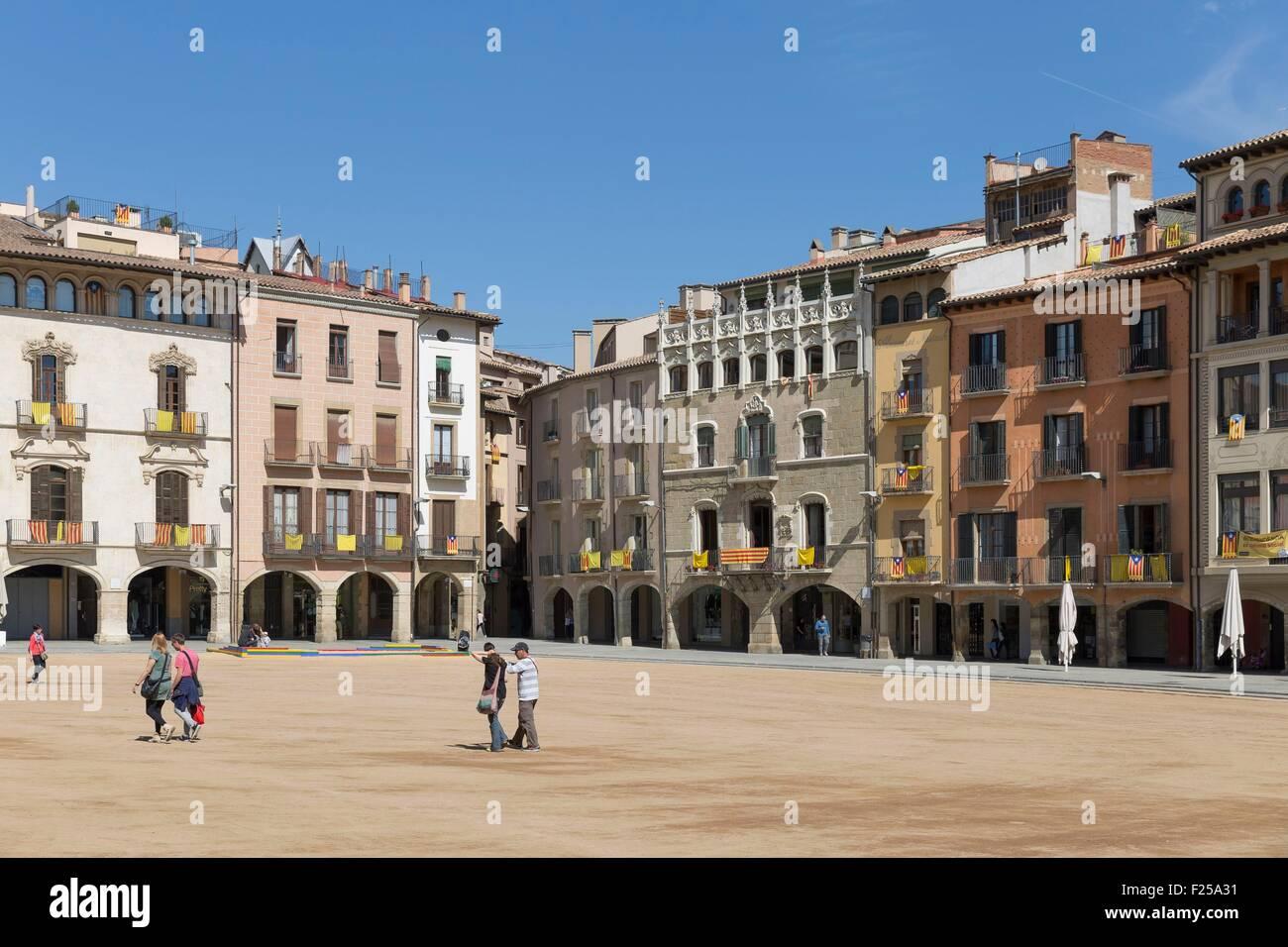 Spain, Catalonia, Vic, Plaτa Major - Stock Image