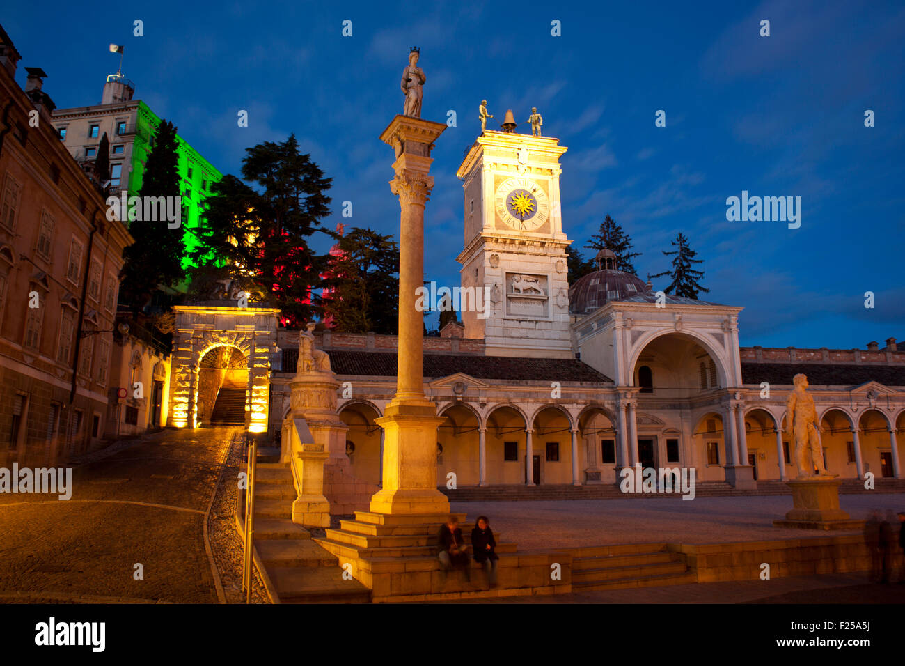 View of Piazza Libertà, Udine - Italy - Stock Image