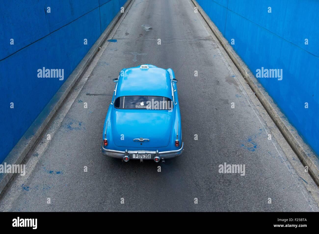 Cuba, Ciudad de la Habana province, La Havana, american car - Stock Image