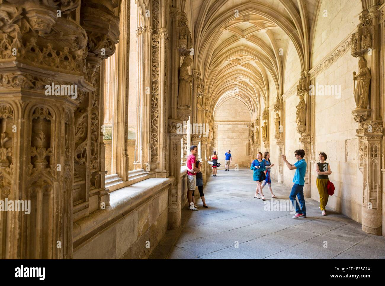 Spain, Castilla La Mancha, Toledo, historic center listed as World Heritage by UNESCO, the monastery of San Juan - Stock Image