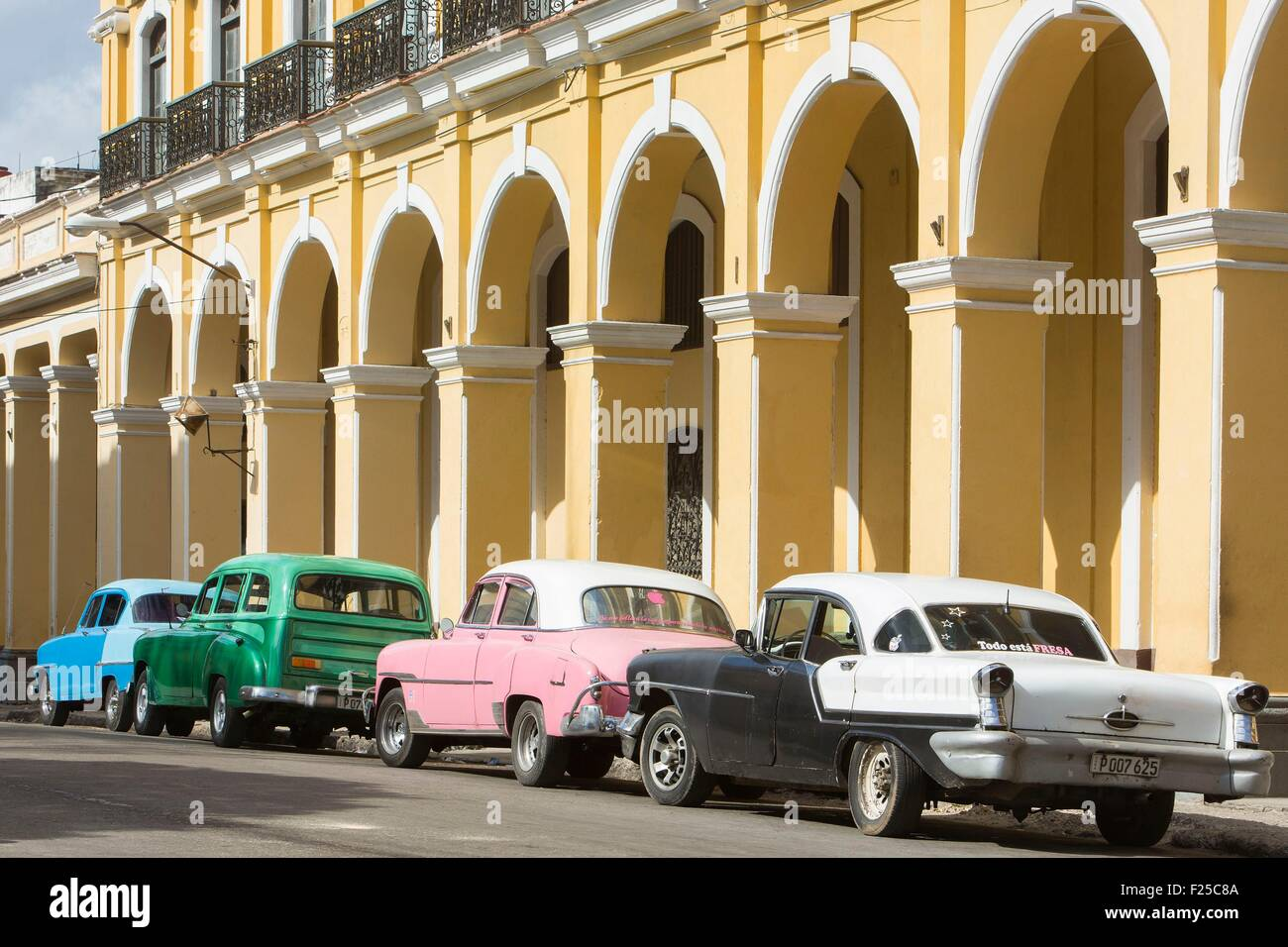 Cuba, Ciudad de la Habana province, La Havana, La Habana Vieja district listed as World Heritage by UNESCO, american - Stock Image