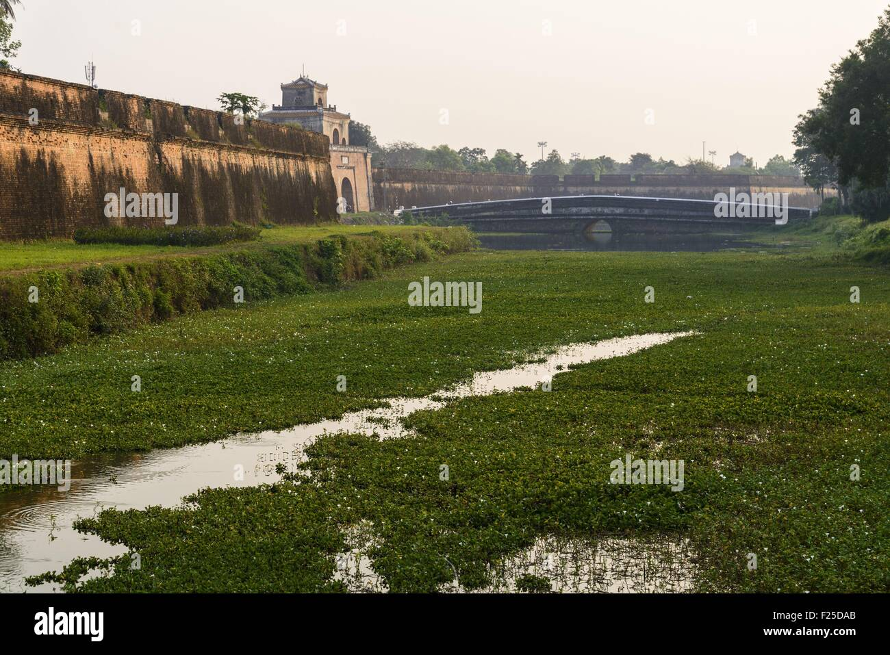 Vietnam, Thua Thien Hue province, Hue, the Imperial Cityl, listed as World Heritage site by UNESCO, the Citadel - Stock Image