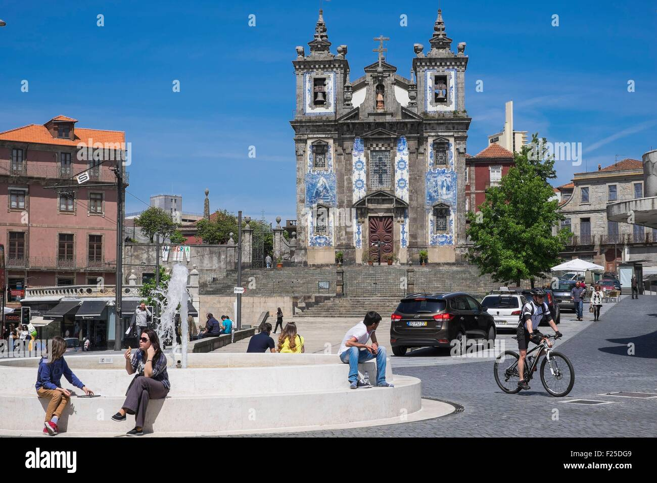 Portugal, North region, Porto, historic centre listed as World Heritage by UNESCO, Santo Ildefonso church - Stock Image
