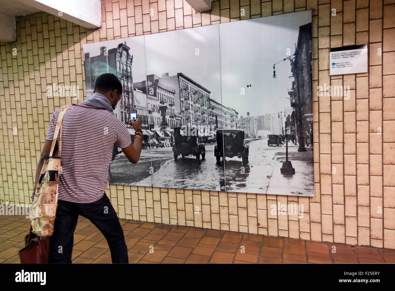 United States, New York, Manhattan, Harlem, subway 125 St. - Stock Image