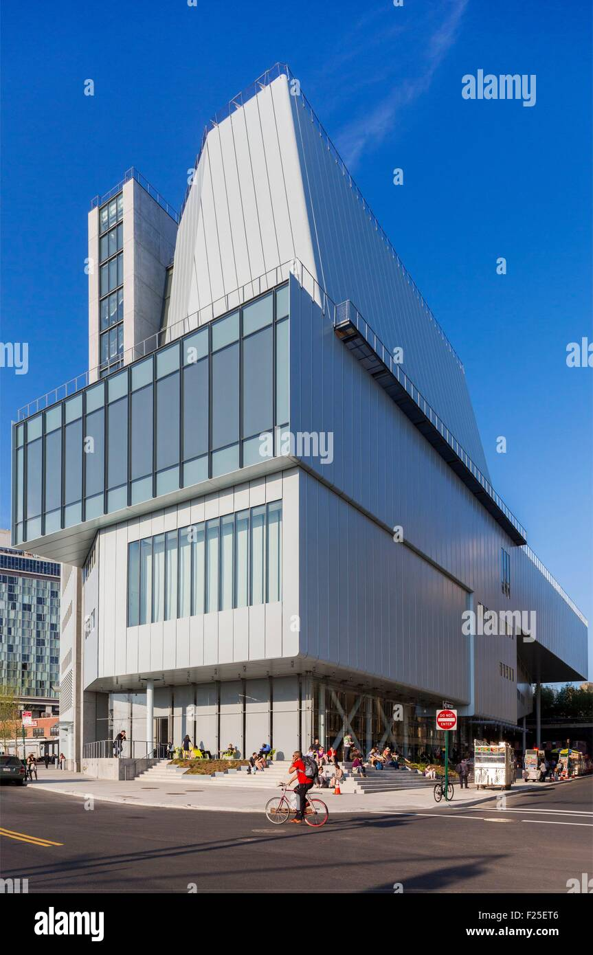 United States, New York, the Meatpacking District, the Whitney Museum of Art - Stock Image