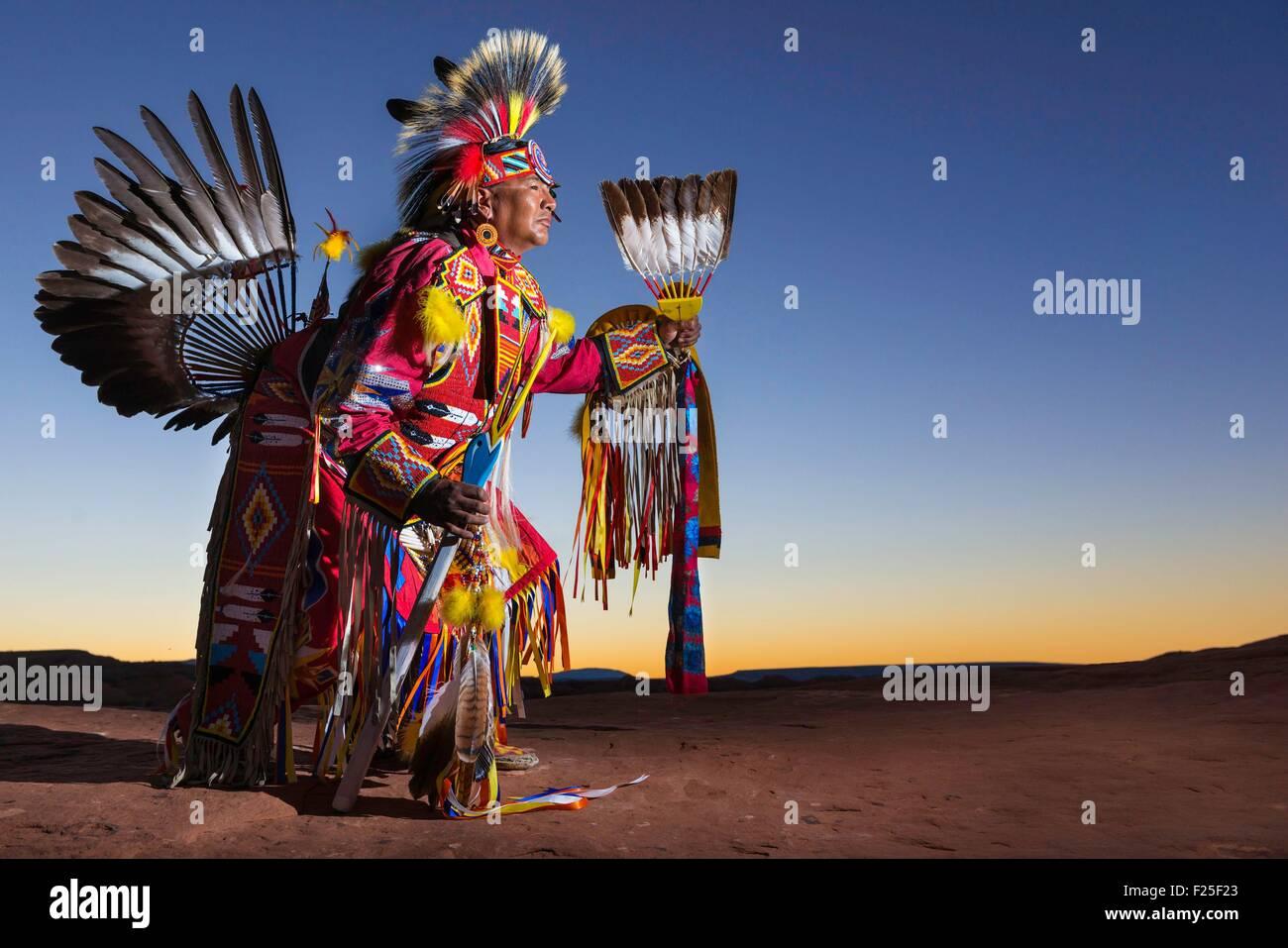 United States, Arizona, Monument Valley Navajo Tribal Park, Navajo Anderson Chee - Stock Image