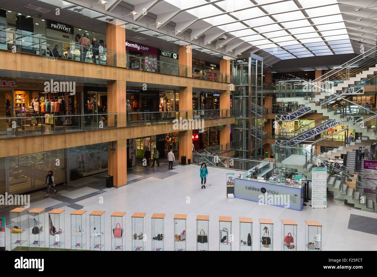 Andorra, Andorra La Vella, capital city of Andorra state, Escaldes Engordany, a mall - Stock Image