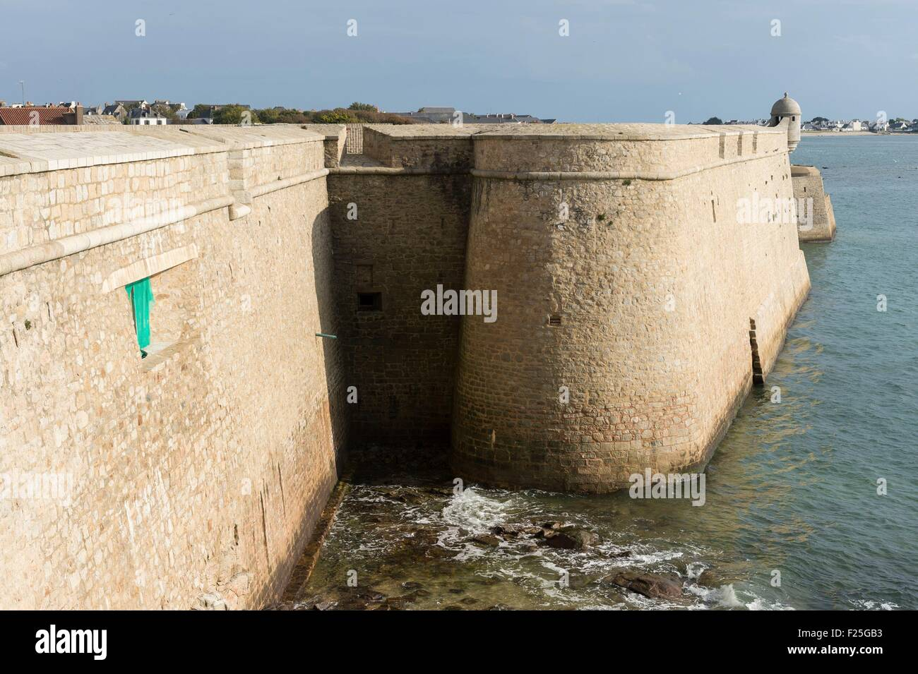France, Morbihan, Port Louis, fortifications of the Citadell - Stock Image