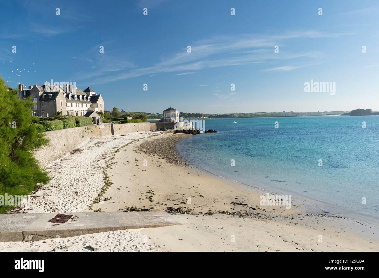 France, Finistere, Roscoff, the Villa Saint Luc Stock Photo