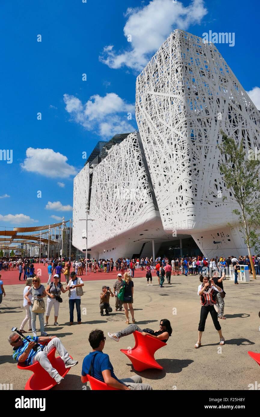 Italy, Lombardy, Milan, World Exhibition Expo Milano 2015, Palazzo Italy - Stock Image