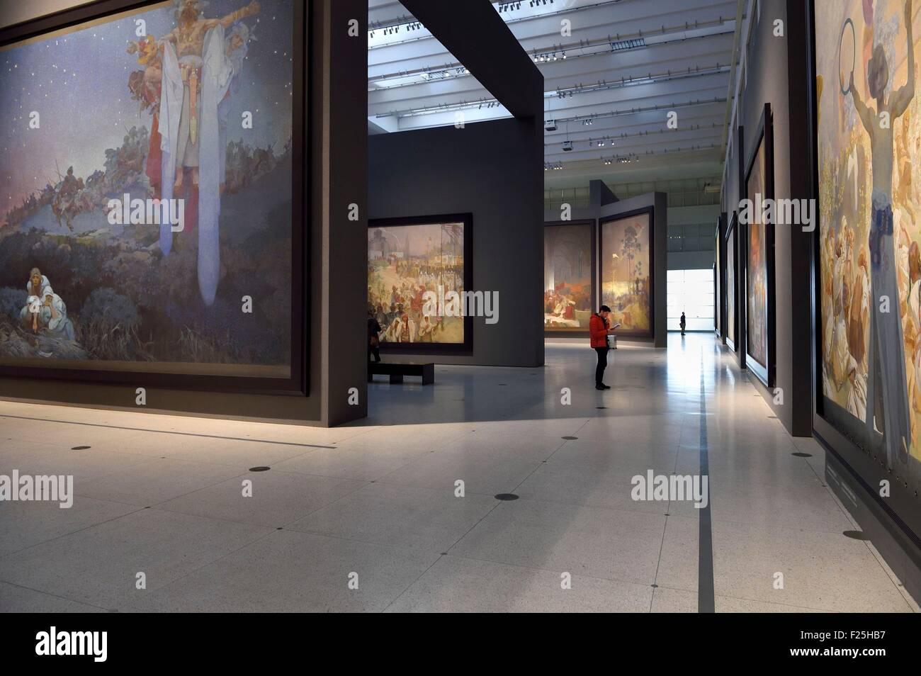 Czech Republic, Prague, Palace of Fairs and Exhibitions (Veletrznφ's Palace), permanent exhibition of twenty - Stock Image