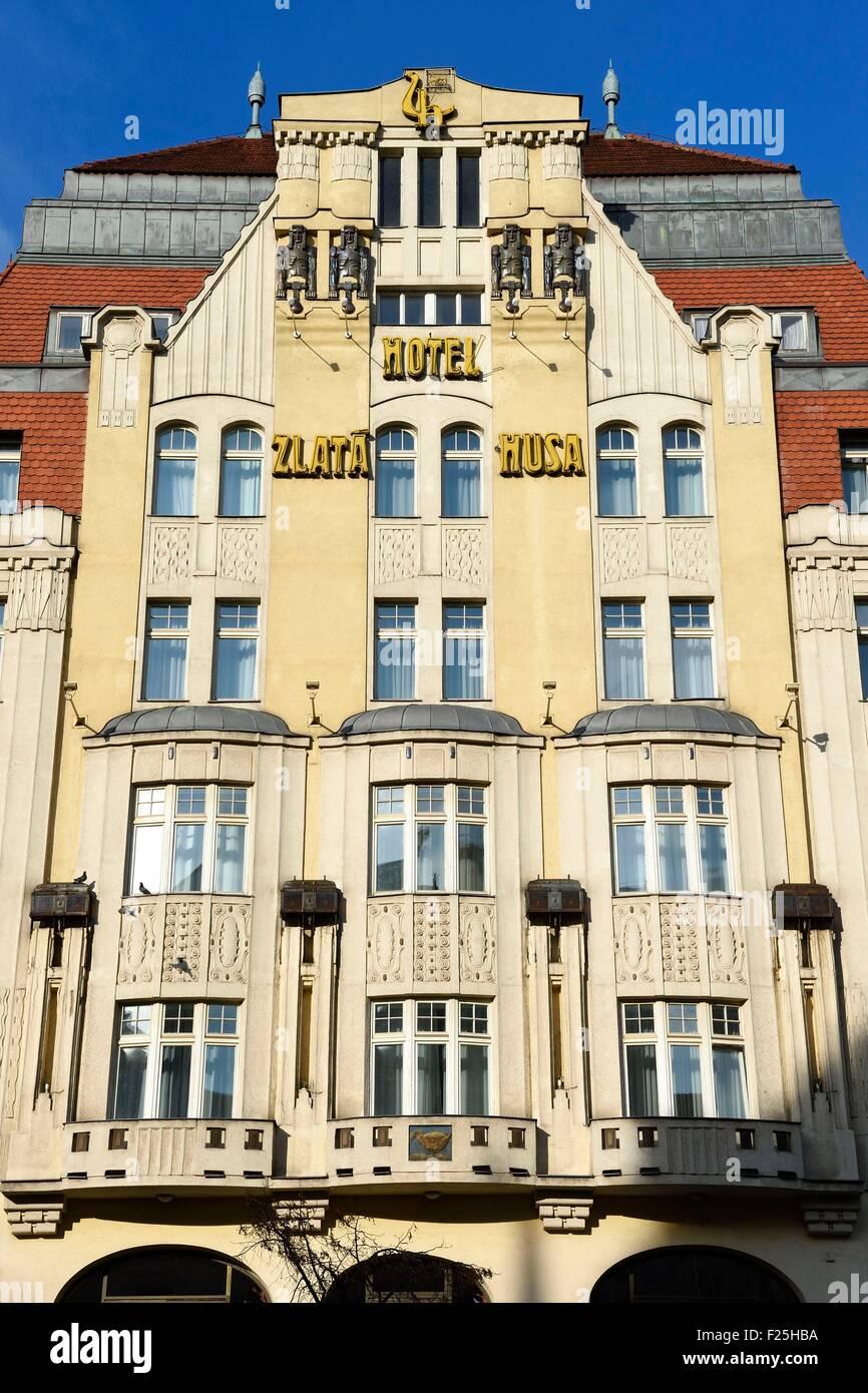 Czech Republic, Prague, Nove Mesto, Ambassador - Zlata Musa Hotel on Vaclavske namesti - Stock Image