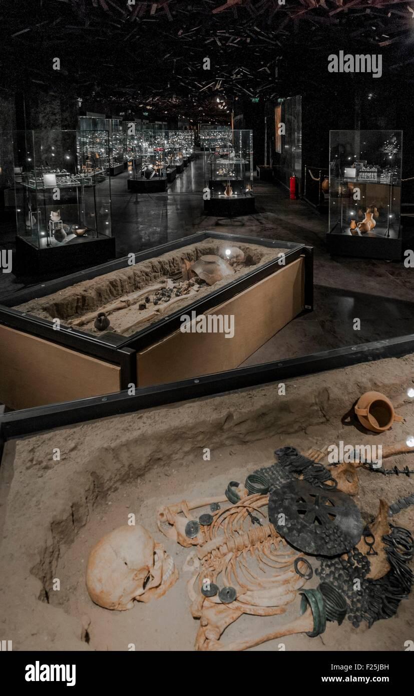 Macedonia, Skopje, new Archeologic Museum of Macedoinia, floor dedicated at the prehistory - Stock Image