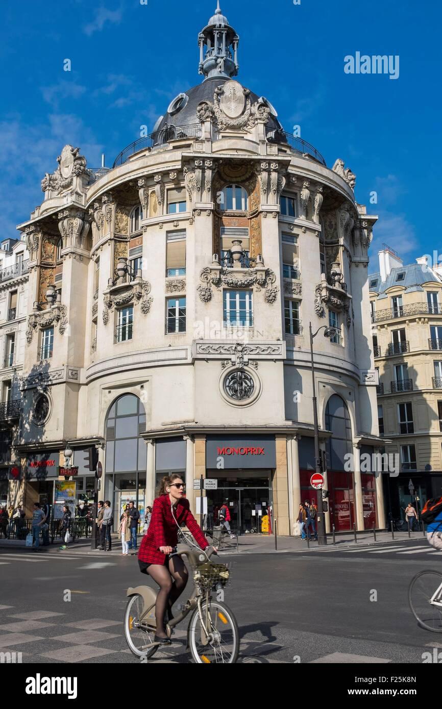 France, Paris, Sebastopol boulevard, Monoprix Reaumur-Sebastopol, former Felix-Potin building - Stock Image
