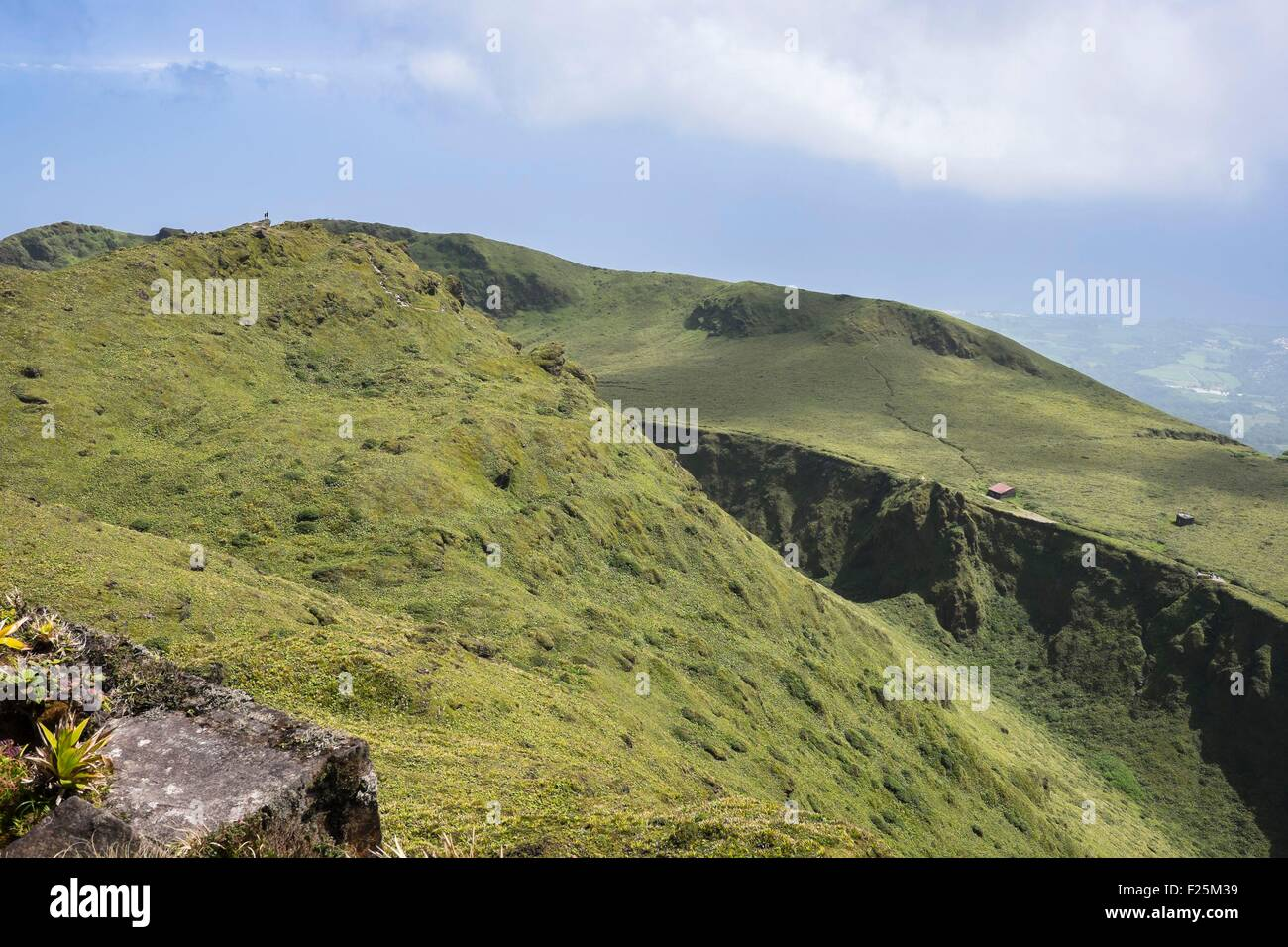 France, Martinique, Mount Pelee, active volcano at the northern end of the island - Stock Image