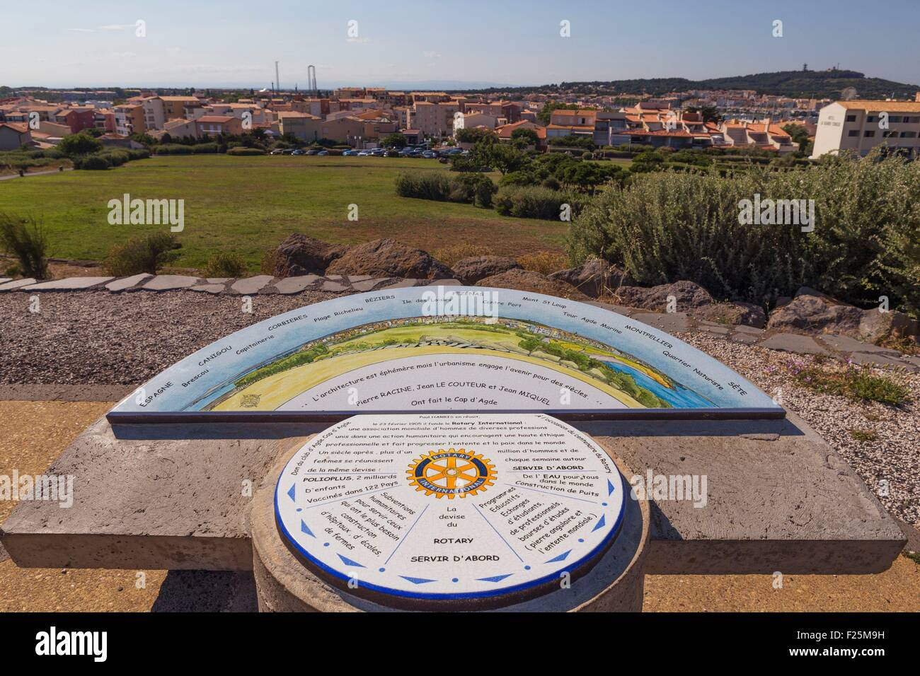 France, Herault, Le Cap d'Agde, viewpoint - Stock Image