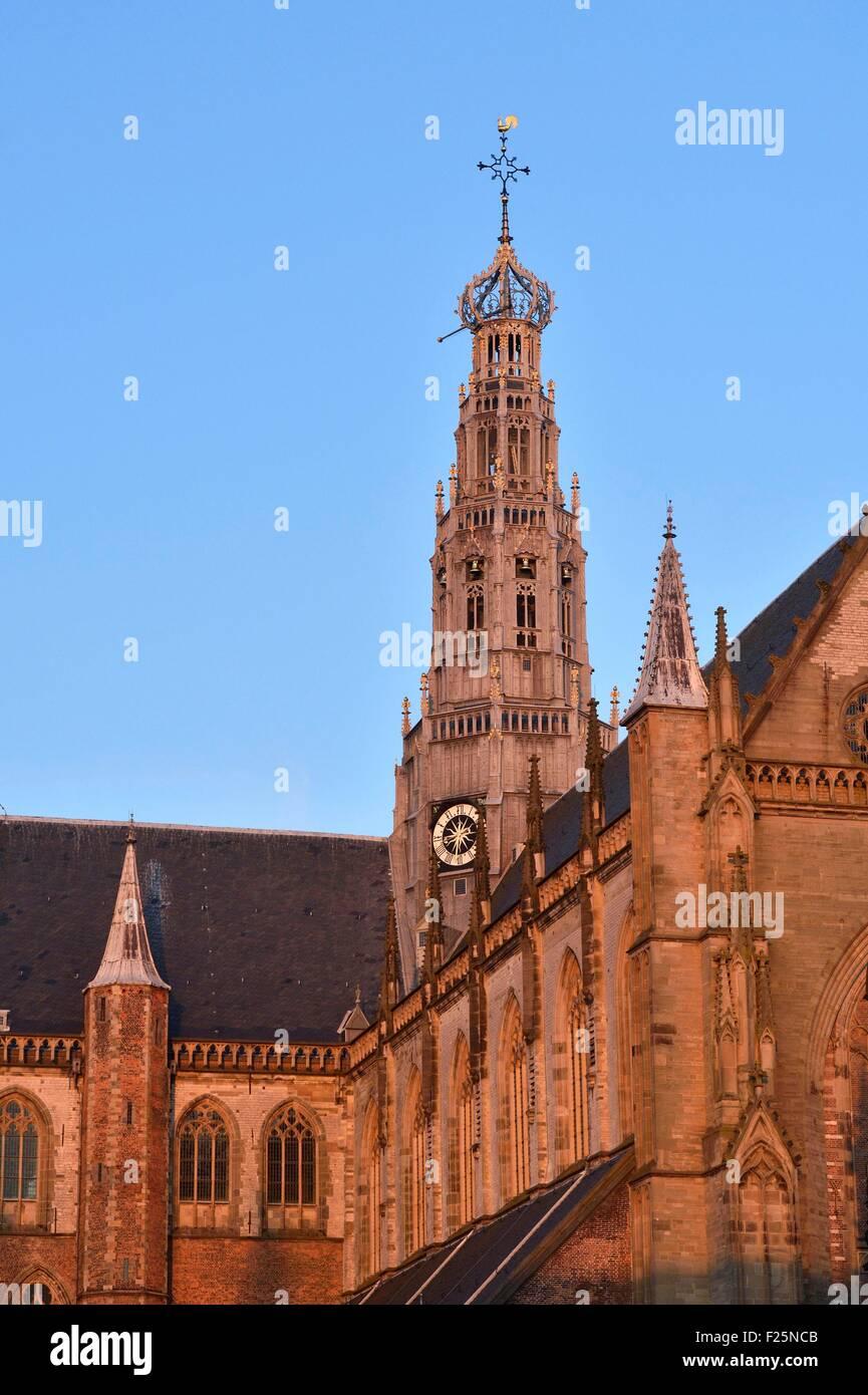 Netherlands, Northern Holland, Haarlem, Grote Kerk (St Bavon church) Stock Photo