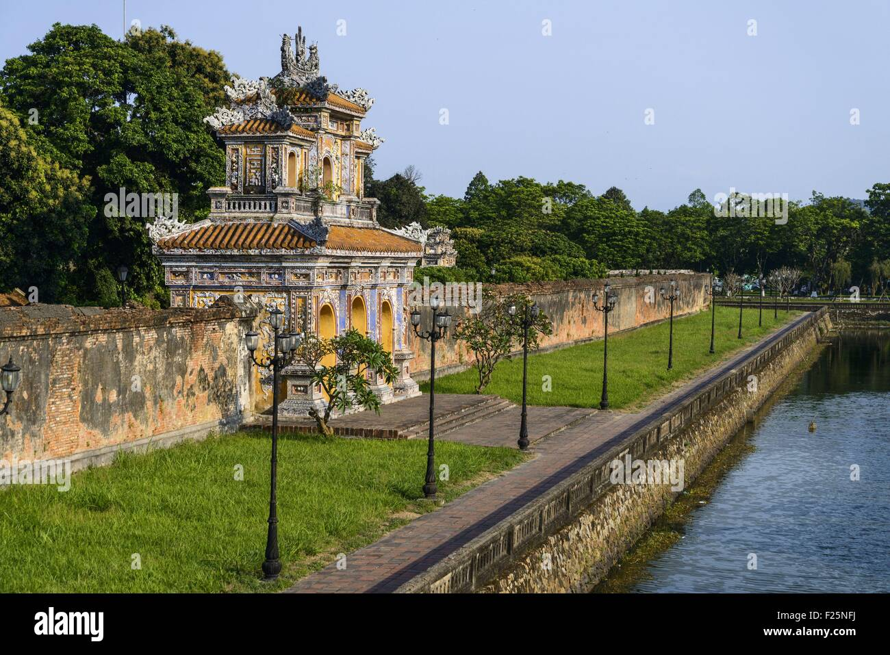 Vietnam, Thua Thien Hue province, Hue, the Imperial Cityl, listed as World Heritage site by UNESCO, the western - Stock Image