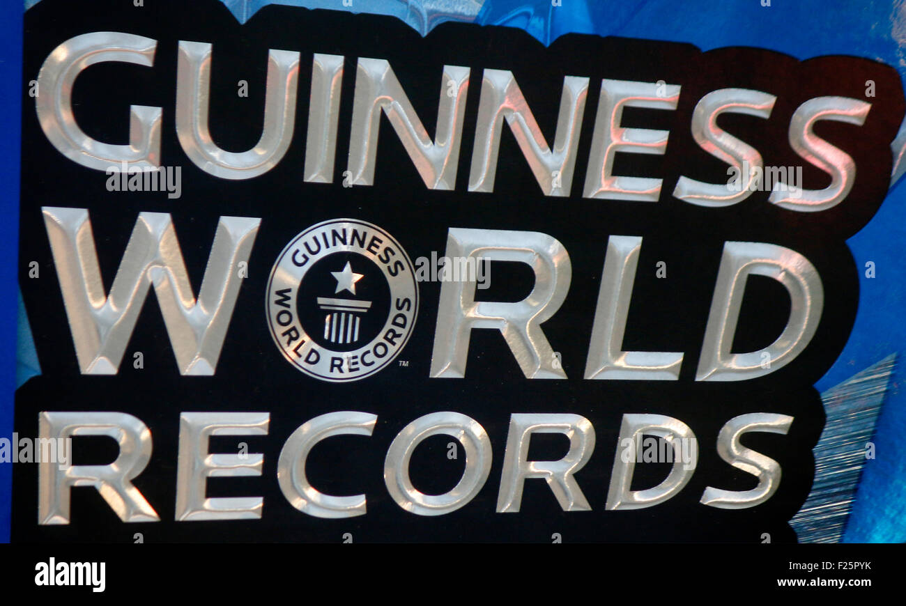 Markennamen: 'Guinness World Records', Berlin. - Stock Image