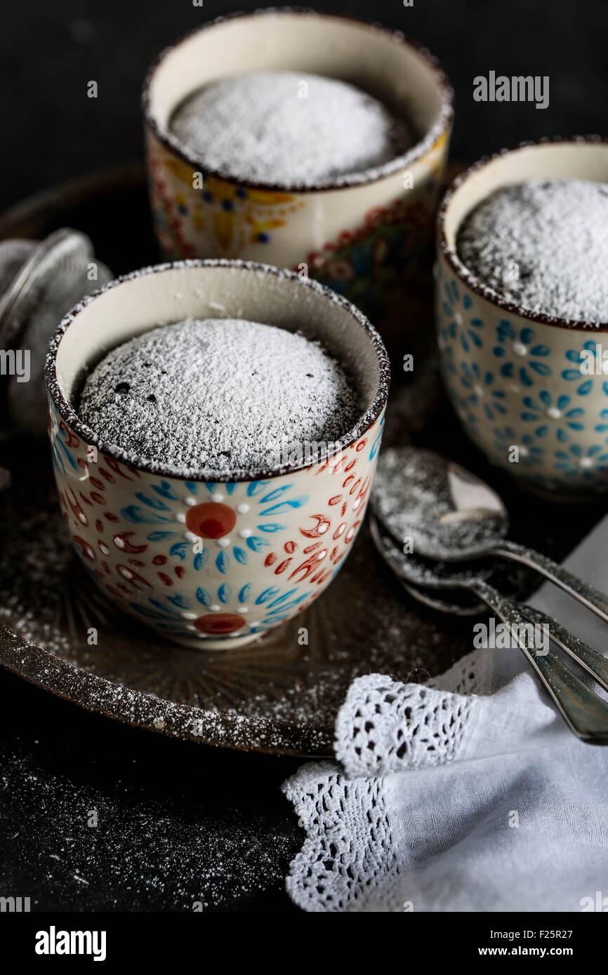 Chocolate mug cake - Stock Image