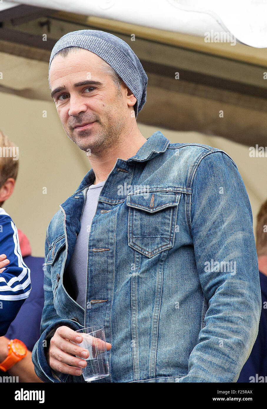 Actor Colin Farrell attends Homeless World Cup on the Museumplein in  Amsterdam d3652b692a2