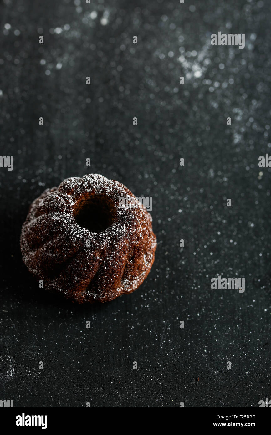 Mini bundt cake. - Stock Image