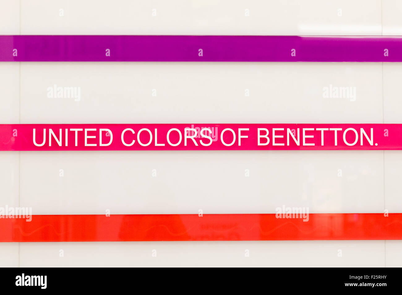 United colors of Benetton logo - Stock Image
