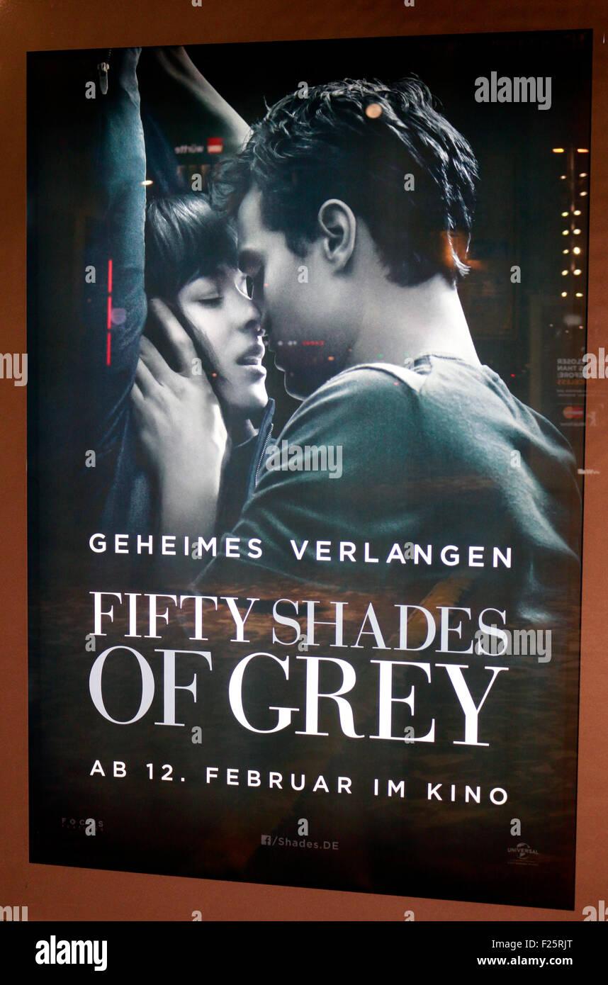 Werbung fuer den Film 'Fifty Shades of Grey', Berlin-Mitte. - Stock Image