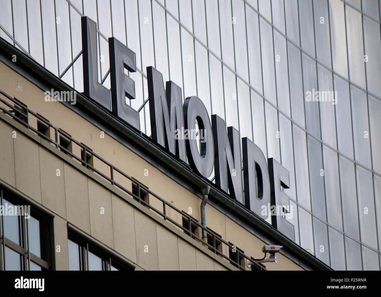 Markennamen: 'Le Monde', Berlin. - Stock Image