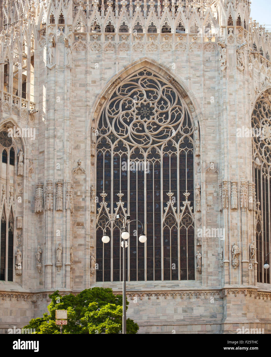 Windows of of Milan cathedral, Italy Stock Photo